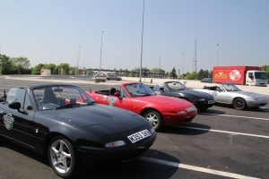 Mazdas in a  row