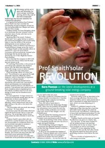 Professor Snaith's solar revolution